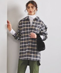 UNITED ARROWS/<STYLE for LIVING>チェック柄 ビッグシルエット シャツ/502527943