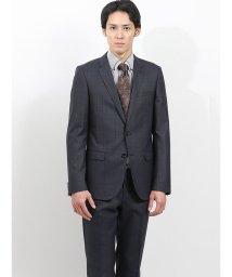 m.f.editorial/ストレッチ光沢ウール混 スリムフィット2ピーススーツ ウィンドペン紺/502552914
