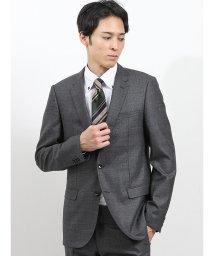 m.f.editorial/ストレッチ光沢ウール混 スリムフィット2ピーススーツ グレー/502552915