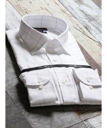 TAKA-Q/綿100%形態安定スリムフィット ワイドカラー長袖シャツ/502553007