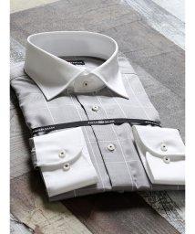 TAKA-Q/綿100%形態安定レギュラーフィット ワイドカラークレリック長袖シャツ/502553012
