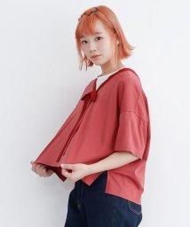 merlot/【TVドラマ着用】前後2WAYパフスリーブリボントップス/502554465