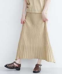 merlot/ラメミックスニットプリーツスカート/502554505