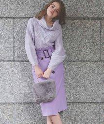Noela/ワイドベルトペンシルスカート /502554612