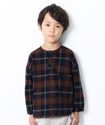 devirock/ヘンリーネックネルチェックシャツ/502554682