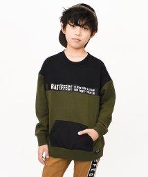 RAT EFFECT/ナイロンポケットビッグ切替トレーナー/502555081