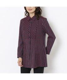 LOBJIE/ポコポコ先染めチェックのシャツブラウス/502555165