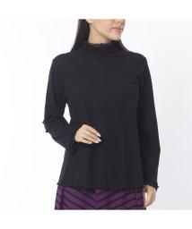 Liliane Burty/レースフリル チュールハイネックTシャツ/502556027