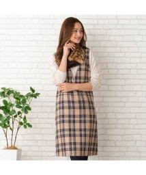 PISANO/チェックツィードジャンパースカート/502556767