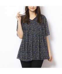 PISANO/チュールメッシュサラサプリントTシャツ/502556798