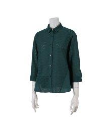Liliane Burty ECLAT/綿素材リーフ刺繍デザインブラウス/502557226