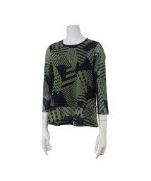 Liliane Burty ECLAT/綿チュールプリントTシャツ/502557400