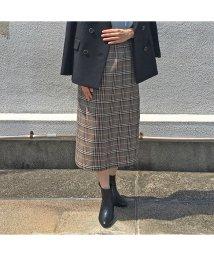 EUCLAID/チェックタイトスカート【セットアップ可】/502557477