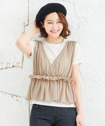 KOBE LETTUCE/レースビスチェ+Tシャツセット [C3676]/502558331