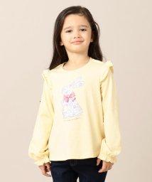 anyFAM(KIDS)/【80-130cm】花柄うさぎ コットン Tシャツ/502558856
