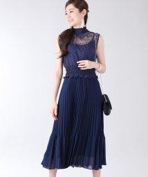 BLUEEAST/《結婚式 パーティー 二次会》レースシャーリングプリーツスカートドレス/502492898