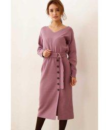 PROPORTION BODY DRESSING/|CanCam 11月号掲載|ベルト付きニットタイトワンピース◆/502552502