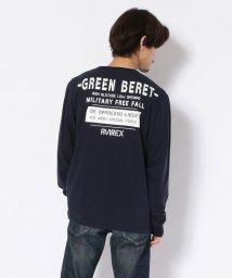 AVIREX/クルーネックTシャツ グリーンベレー ハロ/T-SHIRT GREEN BERET HALO/502558952
