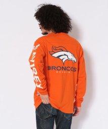AVIREX/【×NFL】ロングスリーブ フットボール Tシャツ ブロンコス/NFL FOOTBALL T-SHIRT DENVER BRONCOS/502558961