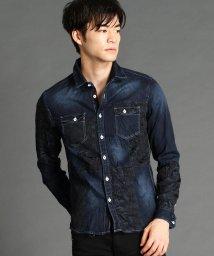 HIDEAWAYS NICOLE/異素材切り替えシャツ/502548205
