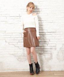 INGNI/フェイクレザー台形スカート                  /502550747