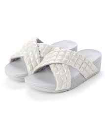 FITFLOP/フィットフロップ fitflop LULU PADDED SHIMMY SUEDE SLIDES (Silver)/502561568