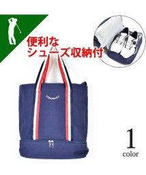 SantaReet/【COMON GOLF】シューズ収納付きキャンバスゴルフトートバッグ(CG-BG180119/502562796