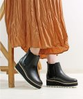 Lirio blanco/ボリュームシャークソールブーツサイドゴアブーツ 厚底 ショートブーツ レディース 靴 歩きやすい シャークソール 幅広 ワイズ クッションインソール 黒 甲高幅/502564212