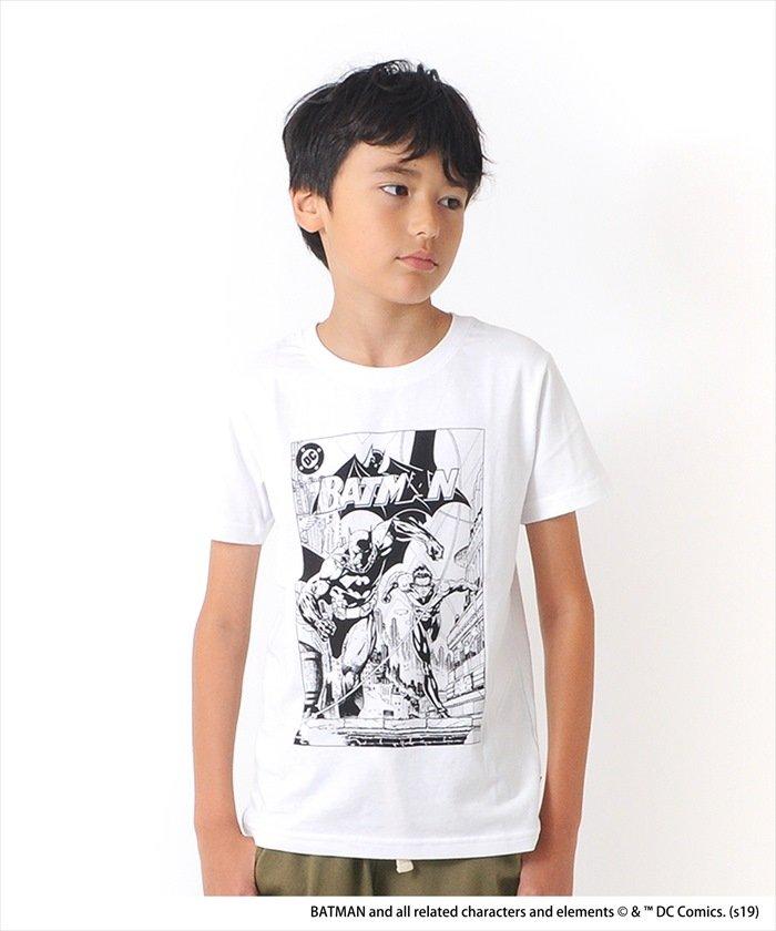 バットマンモノクロプリント半袖Tシャツ