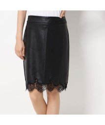 GUESS/ゲス GUESS MANUELA FAUX-LEATHER PENCIL SKIRT (JET BLACK)/502566317