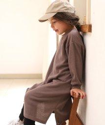 pairmanon/【ママとおそろい】ロング丈 ビックシルエット 長袖 スリット ワンピース/502468623