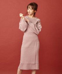 MIIA/【セットアップ対応商品】ラップ風タイトニットスカート/502567834