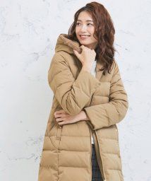 Perle Peche OUTLET/ファーフードロングダウン/502568045