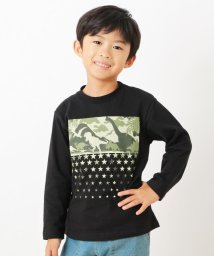 3can4on(Kids)/【90-140cm】恐竜プリントロングTシャツ/502568516