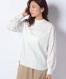 Mint Glam/【モデル着用】【洗える】マイクロスパンディアクロス×レースブラウス/502520656