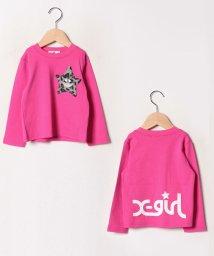 X-girl Stages/ヒョウ柄キラッキーポケットTシャツ/502549184