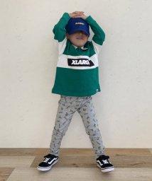XLARGE KIDS/衿つきハーフジップラガーTシャツ/502549190