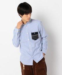 GLOSTER/オックスハンドステッチシャツ/502552114