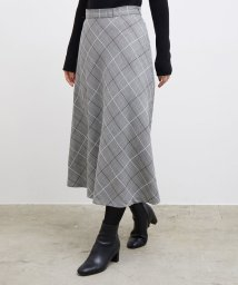 ROPE' PICNIC/プレミアムフィールモールチェックロングスカート/502562039