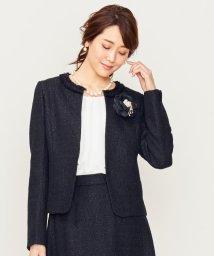 KUMIKYOKU(S SIZE)/【セットアップ対応】ラメループモールツイード カラーレスジャケット/502572942