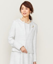 KUMIKYOKU/【セットアップ対応】ラメループモールツイード カラーレスジャケット/502572953