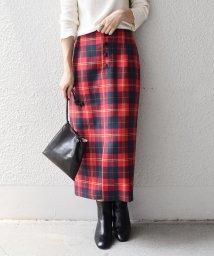 SHIPS WOMEN/タータンチェックタイトスカート◇/502573210