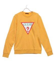 GUESS/ゲス GUESS TRIANGLE LOGO CREW SWEAT (MUSTARD)/502573943