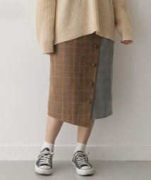 URBAN RESEARCH OUTLET/【ITEMS】チェックボタンハイショクスカート/502542201