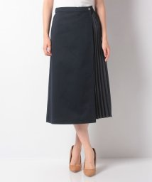 Mint Glam/【TV着用】ハードチノ×サテンプリーツ フレアースカート/502550215