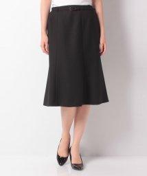LAPINE BLANCHE/【セットアップ対応】ベルト付きスカート/ウールピーチジョーゼット/502562227
