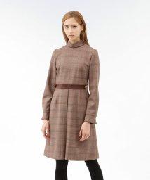 LOVELESS WOMEN/ロールカラー オーバーチェック ドレス/502542356