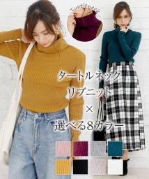 Girly Doll/リブニットタートルネックプルオーバー/502562840