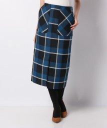 Mint Glam/【雑誌掲載】【洗える】ドライウールオックス チェックタイトスカート/502570430