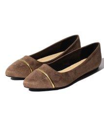 Shoes in Closet/フロントゴールドライン パイソン切り替え スエード調ローヒールパンプス/502570780